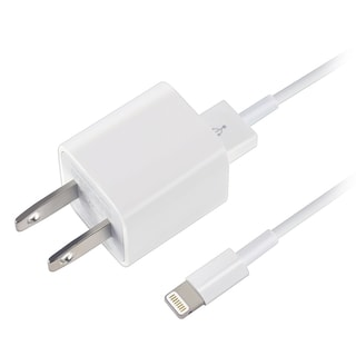 Apple USB Home Travel Charger Adapter/ Lightning Cable Power Cord MD818ZM/ A for iPhoneX/ 8/ 8 Plus 7/ 6S Plus/ iPad Pro/ Mini