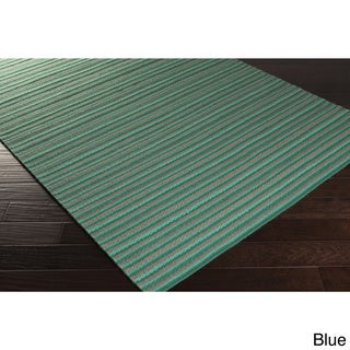 Hand-Woven Lothian Stripe Reversible Wool Rug (3'3 x 5'3)