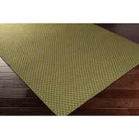 Hand-Woven Marisol Geometric Reversible Wool Area Rug - 2' x 3'