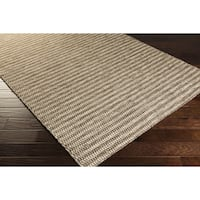 Hand-Woven Lorelai Stripe Reversible Wool Area Rug (8' x 11')