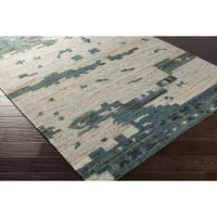 Hand-Woven Leonard Abstract Reversible Area Rug - 8' x 11'