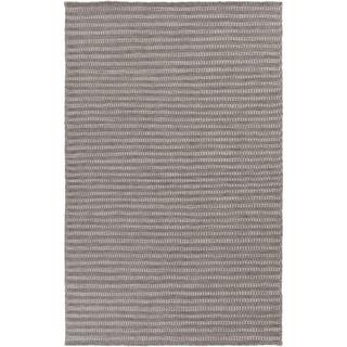 Hand-Woven Lorelai Stripe Reversible Wool Rug (5' x 8')