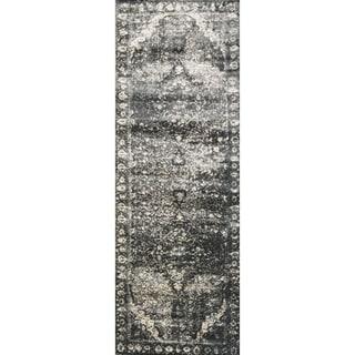 Kingsley Grey Oriental Runner Rug (2'6 x 7'7)