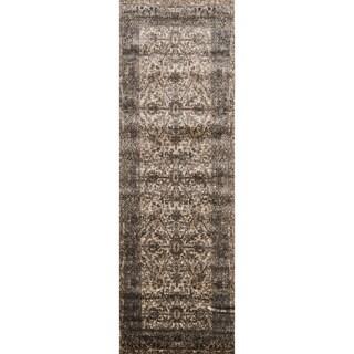 Kingsley Bronze/ Slate Oriental Runner Rug (2'6 x 7'7)
