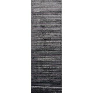 Kingsley Pewter/ Purple Runner Rug (2'6 x 7'7)