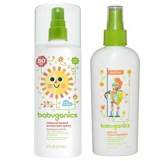 BabyGanics 5.98-ounce Sunscreen Spray SPF 50 and 6-ounce Bug Spray Duo Pack
