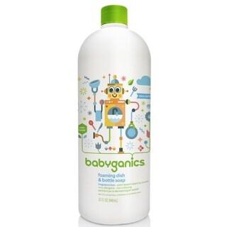 BabyGanics Dish Dazzler Foaming Dish and Bottle Soap Refill (Fragrance-free) 32-ounce