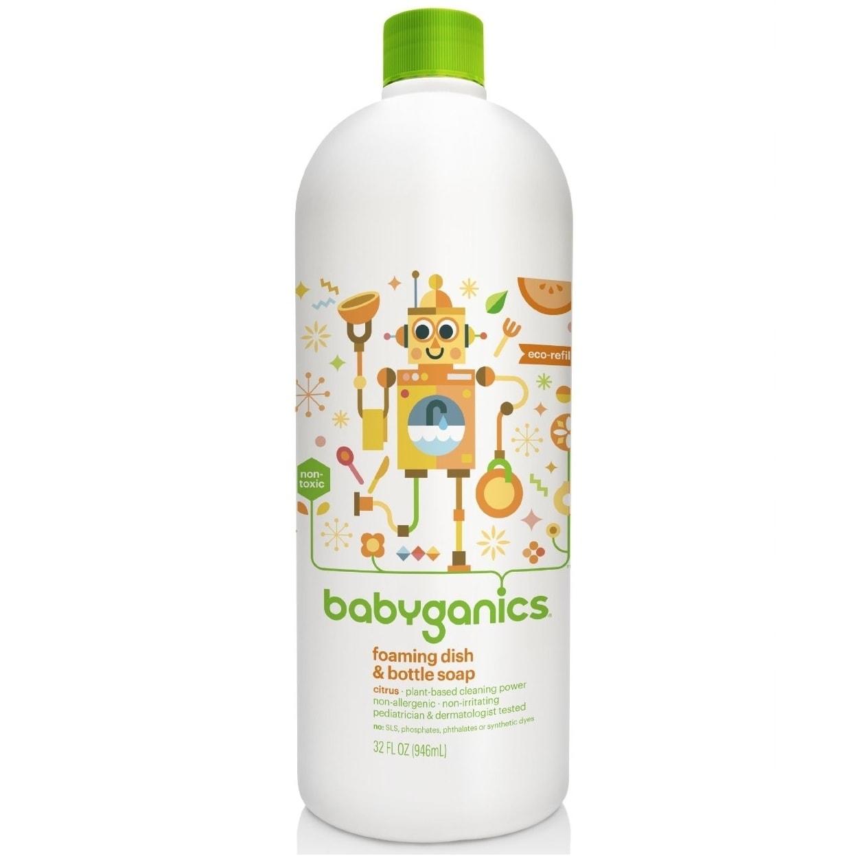 BabyGanics Foaming Dish and Bottle Soap Refill Citrus - 3...