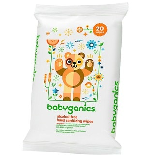 BabyGanics Alcohol-free Hand Sanitizing Wipes (Pack of 20)