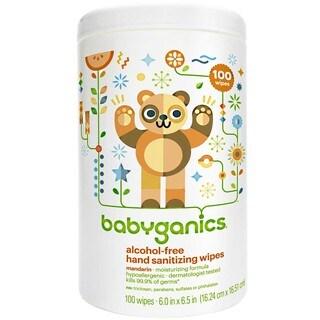 BabyGanics Alcohol Hand Sanitizer Wipes 100 Count Canister - Mandarin