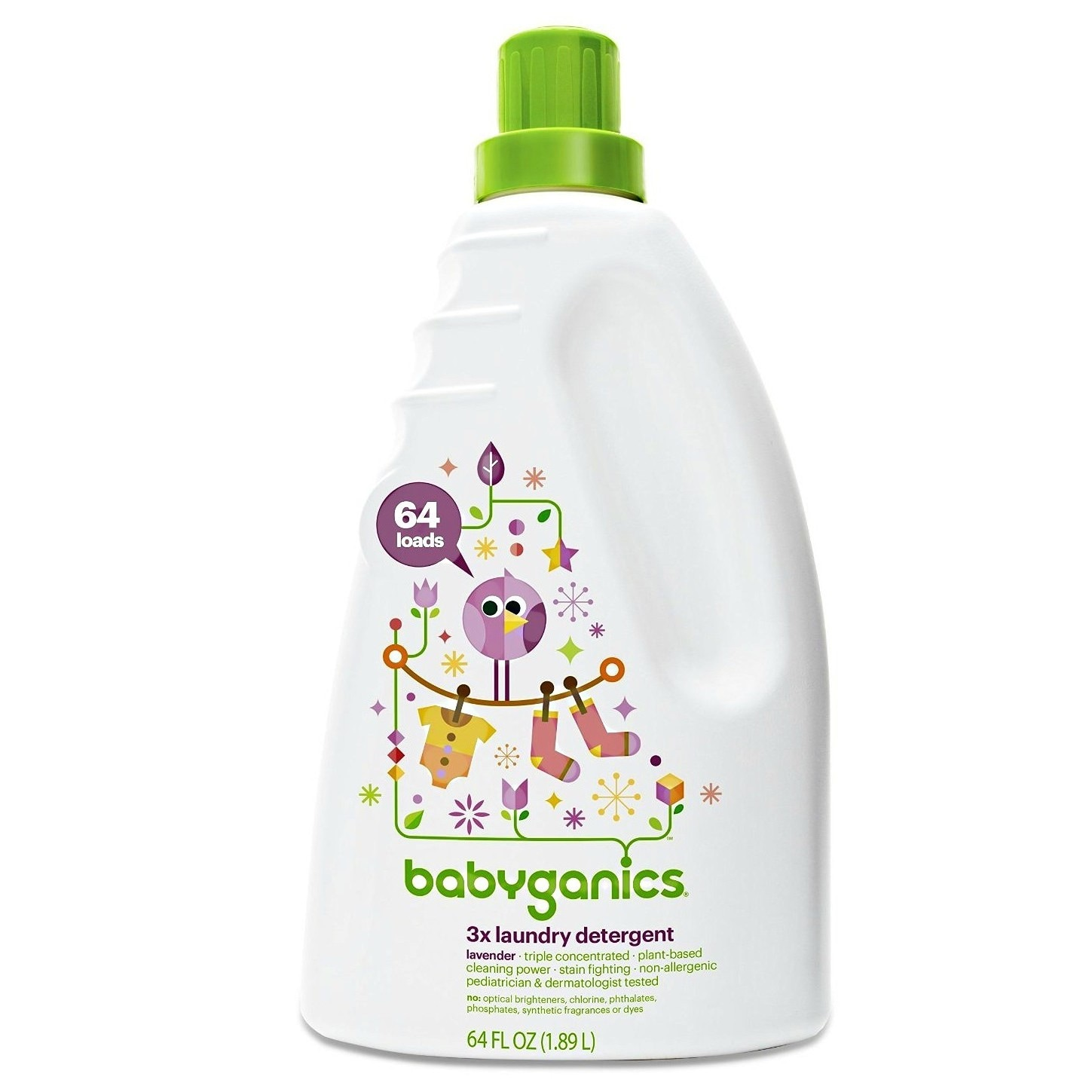 BabyGanics Loads of Love 3X Concentrated Laundry Detergen...