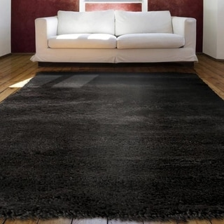 Loft Collection Black Indoor Olefin Area Rug (7'10 x 10'10)