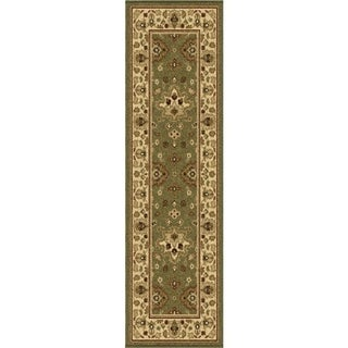 Carolina Weavers Bermuda Collection Chased Green Area Rug (2'3 x 8')