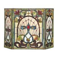 Chloe Tiffany-style Victorian Design Fireplace Screen