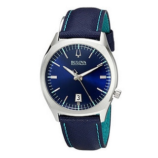 Bulova Accutron II Men's 96B212 Quartz Blue Leather Watch