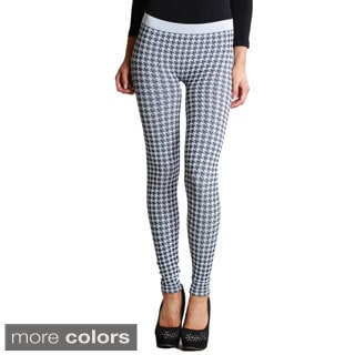 Nikibiki Women's Seamless Houndstooth Ankle Length Leggings