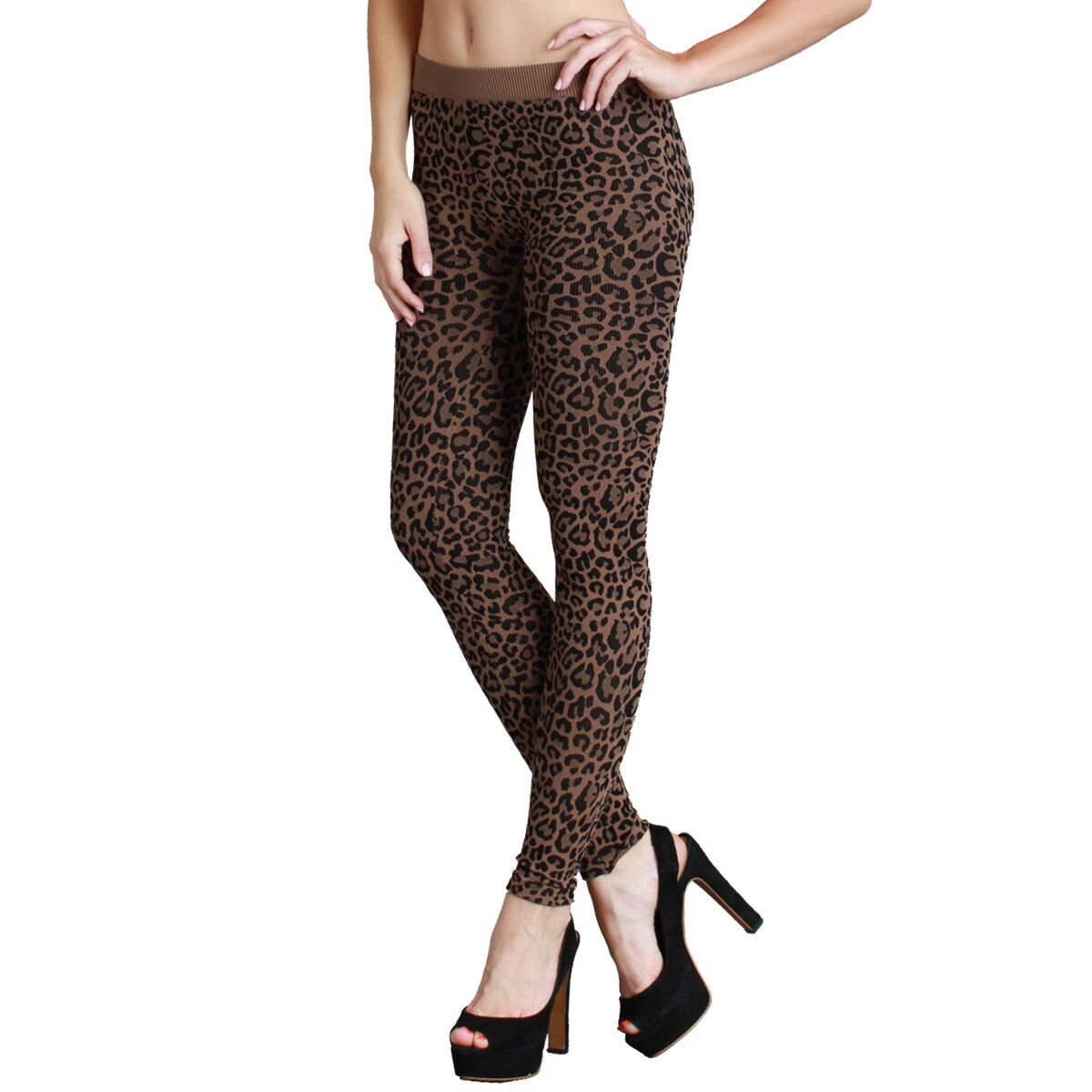 7d8113e651c7a8 Shop Nikibiki Women's Seamless Vivid Leopard Print Ankle Length Leggings -  Free Shipping On Orders Over $45 - Overstock - 9752990