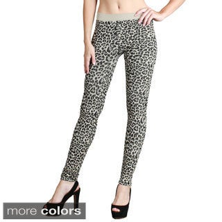Nikibiki Women's Seamless Vivid Leopard Print Ankle Length Leggings