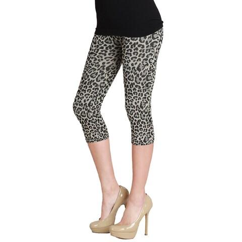 Nikibiki Women's Vivid Leopard Capri Leggings