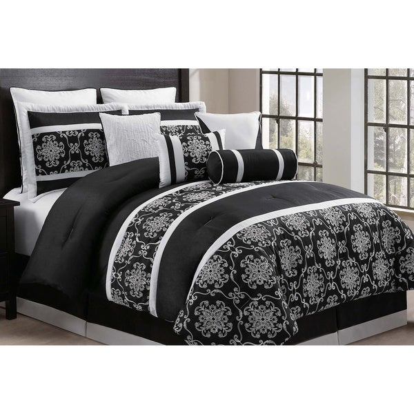Journee Collection 10-piece Embroidered Comforter Set