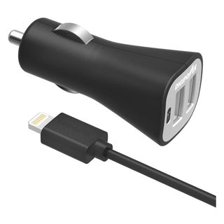DigiPower IS-PC3DL DUAL USB CAR CHARGER KIT with Lightning Cable
