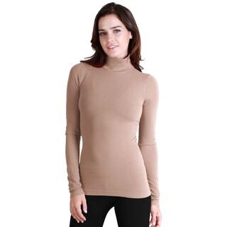 Nikibiki Women's Seamless Long-Sleeve Mock Neck Top