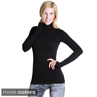 Nikibiki Women's Seamless Long-Sleeve Mock Neck Top