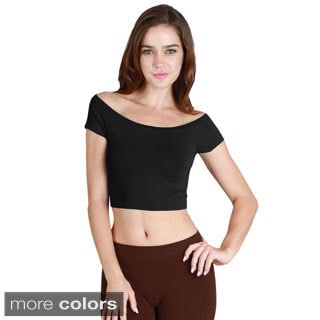 Nikibiki Seamless Off Shoulder Crop Top