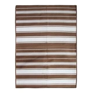 Beige Indo Flat Weave Rug (2.8' x 5')
