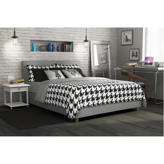 Avenue Greene Misti Grey Linen Upholstered Bed