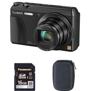 Panasonic ZS35 Black Digital Camera and 16GB SD Card Bundle (Refurbished)