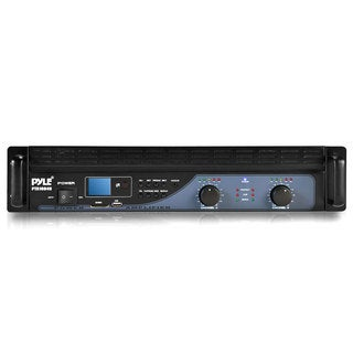 Pyle PTA1004U 1000-watt Power LCD USB/SD Amplifier with Built-in Crossover (Refurbished)