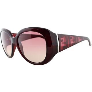 Fendi Women's FS 5357 615 Dark Red Logo Sunglasses