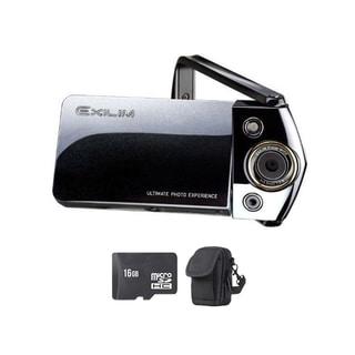 Casio Exilim EX-TR15 Black Digital Camera and 16GB SD Card Bundle