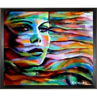 Helena Wierzbicki Sheltered by the wind Framed Fine Art Print - Green