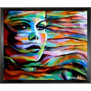 Helena Wierzbicki Sheltered by the wind Framed Fine Art Print - Green