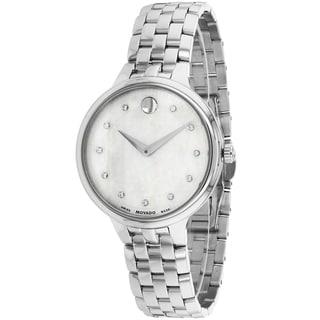 Movado Women's 0606810 Trevi Round Silvertone Watch
