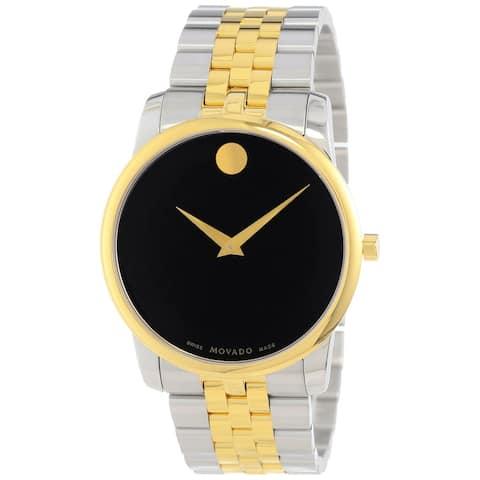 Movado Men's Museum Round Two-tone Bracelet Watch