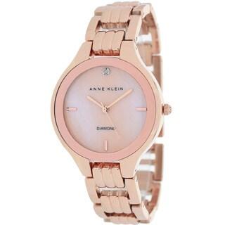 Anne Klein Women's AK-1488RMRG Diamond Rose Goldtone Watch