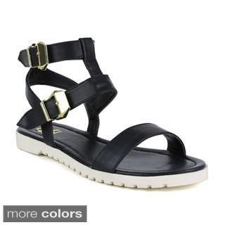 Fahrenheit Women's Polly-01 Ankle Strap Open Toe Sandals