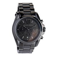Michael Kors Unisex  'Bradshaw' Chronograph Black Stainless Steel Watch