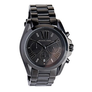 Michael Kors Unisex MK5550 'Bradshaw' Chronograph Black Stainless Steel Watch