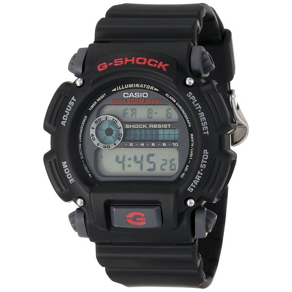 dd044f872 Shop Casio Men's DW9052-1V G-Shock Black Stainless Steel Digital Watch -  Free Shipping Today - Overstock - 9753561