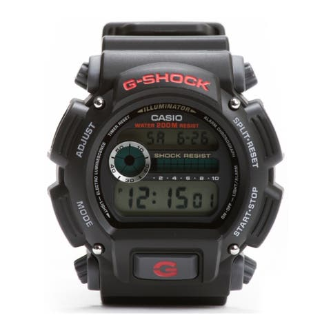 Casio Men's DW9052-1V G-Shock Black Stainless Steel Digital Watch