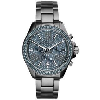 Michael Kors Women's MK6097 'Wren' Chronograph Crystal Rose Blue Dial Stainless Steel Watch