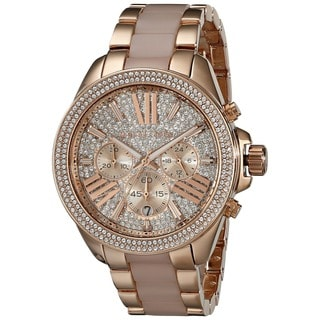 Michael Kors Women's MK6096 'Wren' Chronograph Crystal Rose Gold Tone Stainless Steel Watch