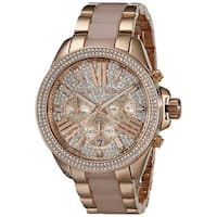 Michael Kors Women's  'Wren' Chronograph Crystal Rose Gold Tone Stainless Steel Watch