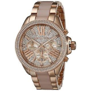 428b436d7ca Michael Kors Women s MK6096  Wren  Chronograph Crystal Rose Gold Tone Stainless  Steel Watch