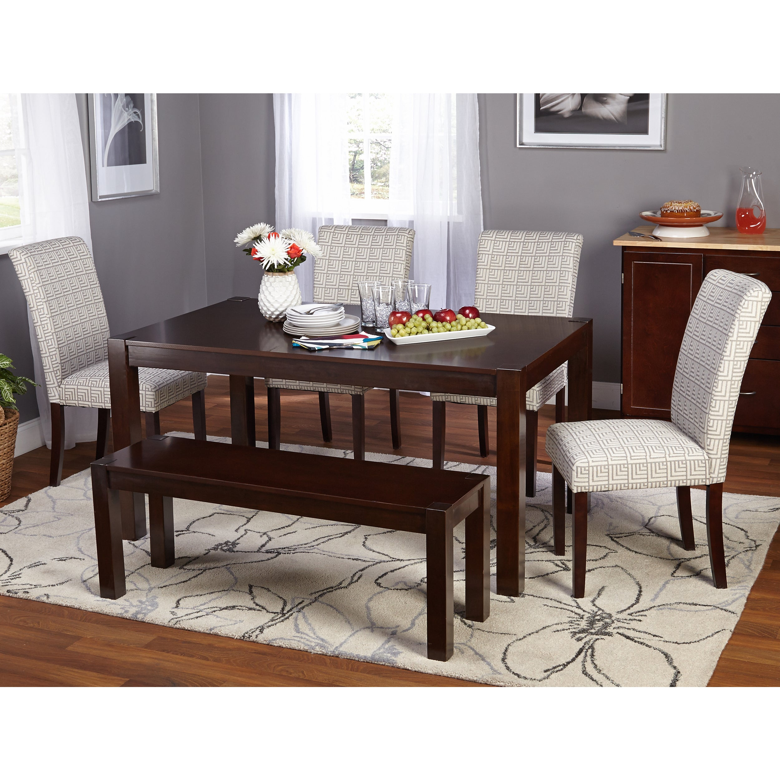 Simple Living Axis Dining Table Espresso 30 H X 60 L 36 D