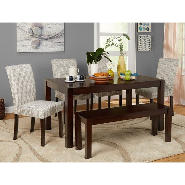 Wondrous Shop Simple Living Axis 6 Piece Dining Set With Dining Bench Evergreenethics Interior Chair Design Evergreenethicsorg
